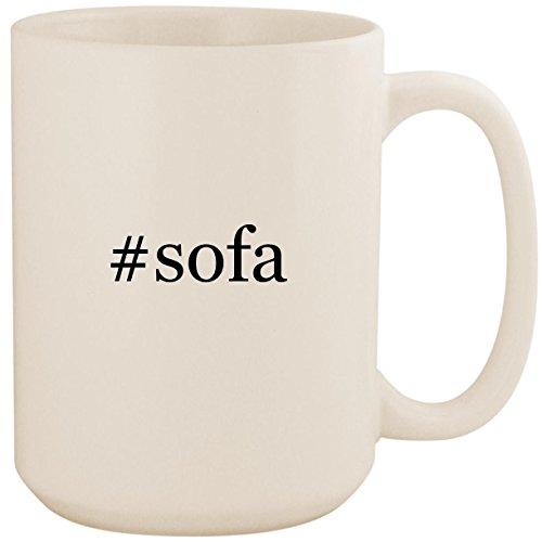 (#sofa - White Hashtag 15oz Ceramic Coffee Mug Cup)