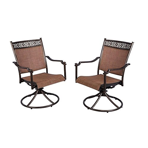 (Niles Park Sling Patio Swivel Rockers (2-pack). Swivel Rocking Design for Increased Comfort.rust-resistant Aluminum Frames for Long-lasting Durability.neutral Harvest Brick Tones That Coordinate.)