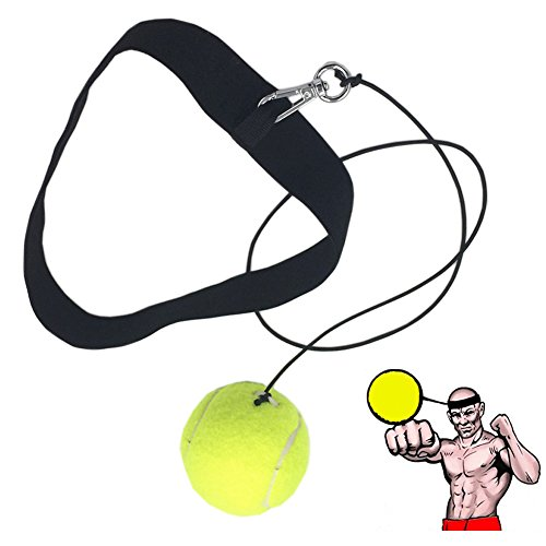 Ueasy Fight Ball Reflex Speed Training Boxing Punch Fight Jab Ball Headband Punch Exercise for Boxing, MMA and Other Combat Sports(Yellow) from Ueasy