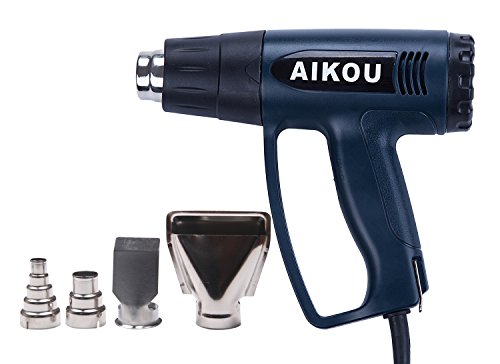 Heatguns Stepless Adjustment Airflow Speed Variable Temperature Electric Power 110V Hot AIR Heater Industrial Heat Guns Kit,1800W (Dark Blue)