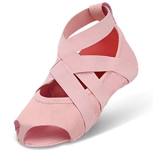Con Ballet Yoga Rosa Para Media Barre Bellarina Joinfree Pilates Puntera Antideslizante Claro Zapatillas qHWwUE00xa