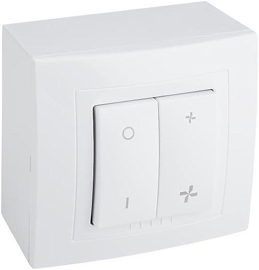 Interruptor de encendido/apagado con interruptor 2 velocidades superficie,: Amazon.es: Iluminación