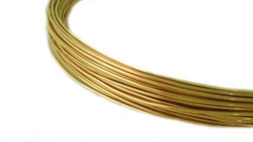 - 26 Gauge, Yellow Brass Wire, Round, Dead Soft, CDA #260-25FT from Craft Wire