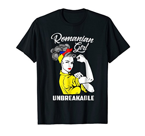 Romanian Girl Unbreakable T-Shirt Heritage Romania Flag Gift