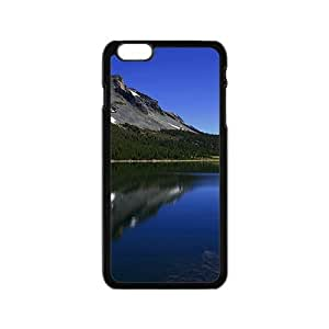 Blue River And Snow Mountains Black Phone Case for Iphone6