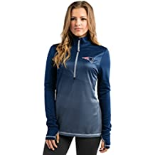 Majestic Athletic New England Patriots Play Action Women's Navy 1/2 Zip Pullover