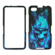 Blue Skull Blackberry Z30 Case Cover Hard Phone Case Snap-on Cover Rubberized...