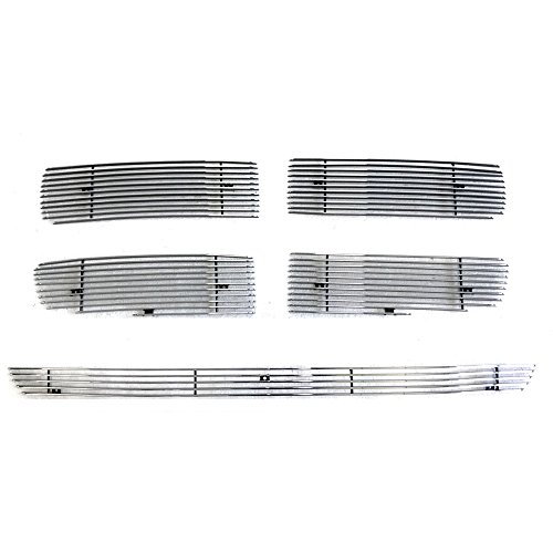 Billet Grille Grill Combo Upper+Bumper Insert D67998A for 2002-2005 Dodge ()