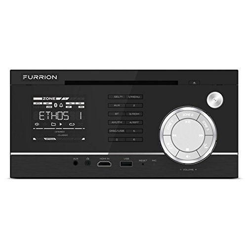 Furrion DV1220-BL Three-Zone Independent Wall Mount RV Stereo and DVD Player - Black
