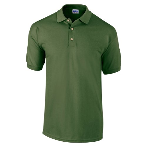 Gildan Mens Ultra Cotton Pique Polo Shirt (S) (Military Green)