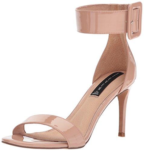 STEVEN by Steve Madden Women's Navarro Heeled Sandal, Nude Patent, 8.5 M US