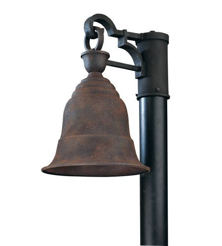 Outdoor Post 1 Light with Cenntinial Rust Finish Solid Aluminum Material Medium 11 inch Wide 100 Watts ()