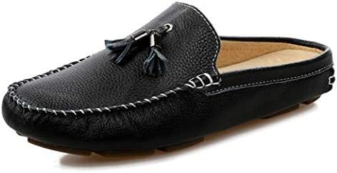 サボサンダル メンズ スタイリッシュ ビジネス スリッパ オフィス サンダル ビジネスシューズ スリッポン 脱ぎ履き楽々 通気性 蒸れない 革靴 さっと履ける 男性 紳士 軽い ゆったり 大人系 かかとなし スリッパ