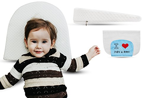 Universal Bassinet Wedge Pillow by Tuaime Dream | Pregnancy Pillow Wedge for Maternity, Waterproof, Inclined Baby Sleeping Positioner + Absorbent Baby Washcloth by Tuaime Dream