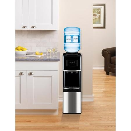 Primo Top-Load Water Cooler, Stainless Steel/Black by Primo