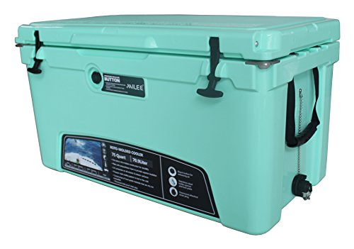 MILEE-Heavy Duty Cooler-75QT ICE CHEST-GREEN (Hanging Wire Basket ,Cooler Divider and Cup Holder are FREE)