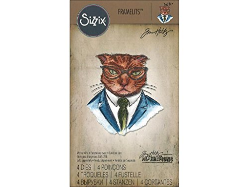 Art Gone Wild Tim Holtz Hipster Cling Rubber Stamp Set 24.5 x 18 x 0.6 cm Multi-Colour Synthetic Material