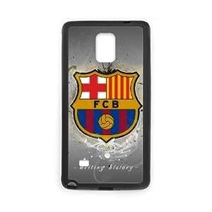 Funda Samsung Galaxy Note caja del teléfono celular 4 Funda Negro Deportes-fc I5T0UM barcalona