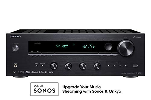 Onkyo TX-8270 2 Channel Network Stereo Receiver with 4k HDMI (Best Hdmi Stereo Receiver)