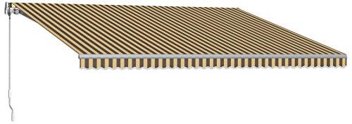 Beauty-Mark MTL14-A-BRNT 14' Maui Model 100 Left Motor/Remote Retractable Awning, 120