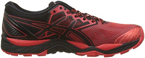 Asics Gel Fujitrabuco 6, Scarpe da Trail Running Uomo Nero (Black/Fiery Red/Black 9023)