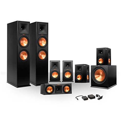 Klipsch 7.1 RP-250 Reference Premiere Surround Sound Speaker Package with R-110SW Subwoofer and a FREE Wireless Kit (Ebony) by Klipsch