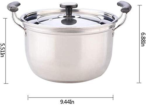 HYYDP Pot Marmite à soupe Cocotte amagnétique lait épais en acier inoxydable Pot double-Eared Cuisinière à induction Pot, Marmite couvercle Food Steamer Pan/Marmite