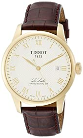 Tissot Powermatic 80 Silver Dial Brown Leather Strap Men's Watch T0064073626300