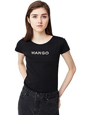 Mango Women's Logo Cotton T-Shirt