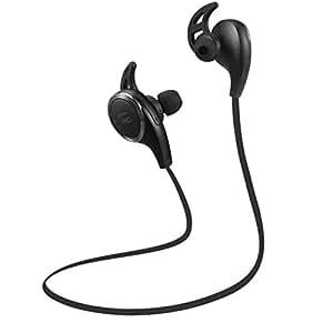 TaoTronics TT-BH06 BL Bluetooth Wireless Earphones with Bluetooth 4.1, Balanced Audio, Build-in Mic, aptX, CVC 6.0 Noise-Cancelling - Black