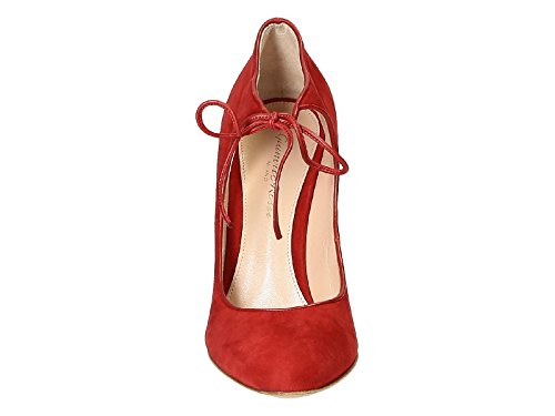Gianvito Rossi Women's G2061315RICXCKTABT Red Suede Pumps 8ztFjk