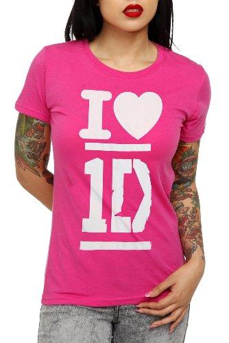 One Direction Pink Heart Girls T-Shirt