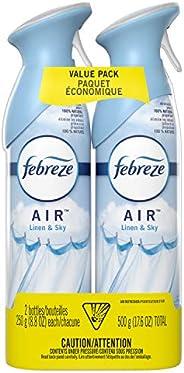 Febreze Air Freshener Spray, Odor Eliminator Linen & Sky, 2 Count - Packaging May