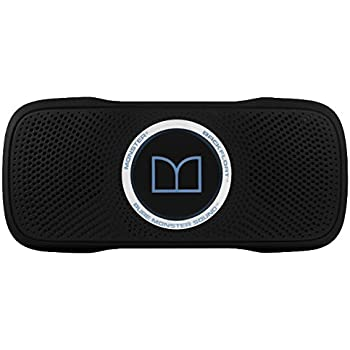 Monster SuperStar BackFloat High Definition Bluetooth, Black and Light Blue- Waterproof and Floating