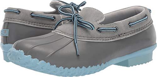 JBU by Jambu Women's Gwen Garden Ready Rain Shoe, Grey/Stone Blue Solid, 8 M US