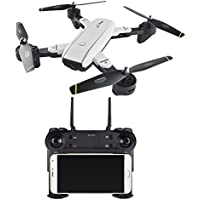 RC Drone,Rabing Foldable FPV RC Quadcopter With HD Wifi Dual Camera 2.4G 4CH 6-Axis Gyro Imagin Following V Gesture Selfie Drone