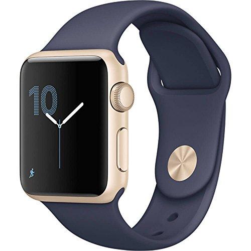 Apple Watch Series 1 38Mm Smartwatch  Gold Aluminum Case  Midnight Blue Sport Band