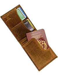 RFID Hunter 726 Oiled Leather Travel Mens Wallet With Pen/Stylus & Sim Slot