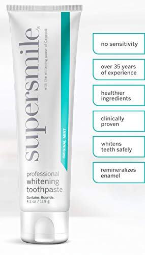 Supersmile Professional Whitening Toothpaste with Fluoride – Powerful Whitening without Sensitivity – Safe and Effective…