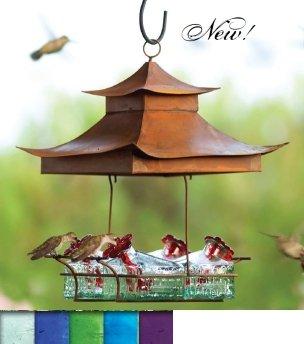 Parasol BW4SHG Bouquet Basketweave Shelter Hummingbird Feeder Green ()
