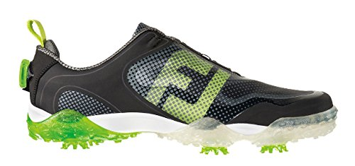 FootJoy Men's BOA-Previous Season Style  Black / Lime / Light Grey Golf Shoe - 10 D(M) US by FootJoy