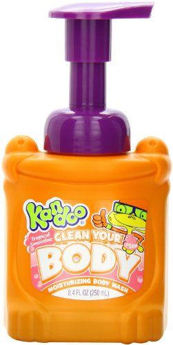 Body Wash for Kids by Kandoo, Brightfoam Moisturizing Colored Soap with Vitamin E, Lets Kids Know When They are Covered, Tropcal Smoothie Scented, 8.4 -