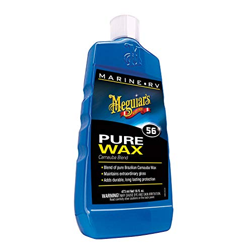 - Meguiar's M5616 Marine/RV Pure Wax Carnauba Blend, 16 Fluid Ounces