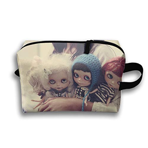 Dark Creepy Gothic Emo Cosmetic Bags With Makeup Artist Case Multi Functional Makeup Handbag For Travel & Home Gift