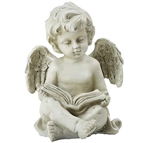 Northlight Decorative Sitting Cherub Angel Outdoor Garden Statue, 6.5