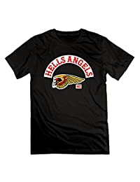 Mens Hells Angels Motorcycle Club Logo H.A. Classic Short Sleeve Tshirt Cotton