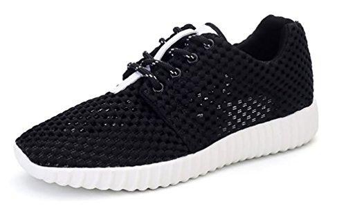 Hommes Showhow Doux Chaussures De Course En Mesh Respirant Baskets Basses Noir