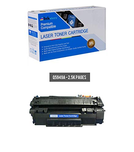 (Inksters Compatible Toner Cartridge Replacement for HP 49A (Q5949A) Black - Compatible with Laserjet 1160 1320 1320N 1320NW 1320TN 3390 3393)