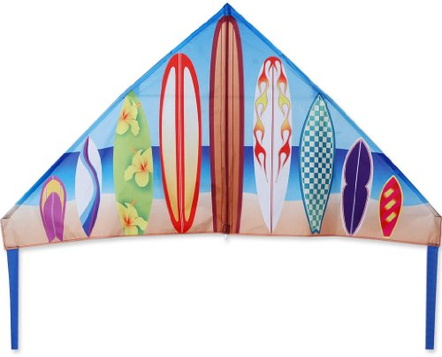 Premier 33114 56-Inch Delta Kite with Fiberglass and Hardwood Dowels Frame, History Surf by Premier Kites