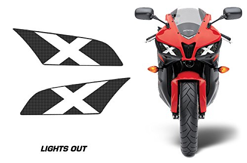 AMR Racing Sport Bike Headlight Eye Graphic Decal Cover for Honda CBR 600 RR 09-12 - Lights Out ()
